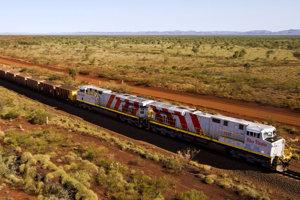 Autonómny nákladný vlak spoločnosti Rio Tinto.