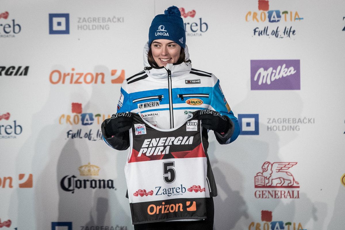 FOTO  Vlhová pri žrebe pred slalomom v Záhrebe 2019 - sport.sme.sk 333925f8622