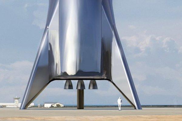 Výrez lode Starship, ktorá sa bude využívať na dopravu na Zemi  aj na orbitálne lety.