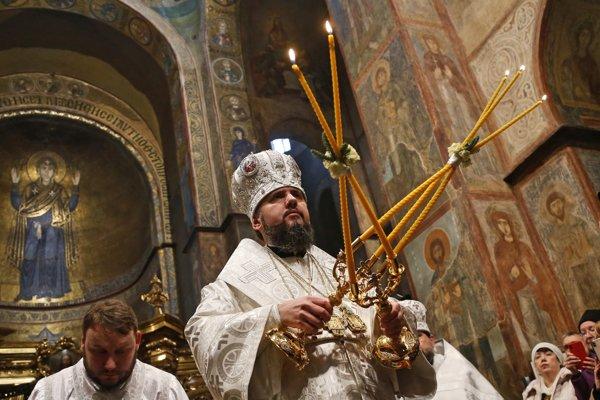 Vianočná omša v Chráme svätej Sofie z 11. storočia.