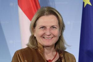 Rakúska ministerka zahraničia Karin Kneisslová.