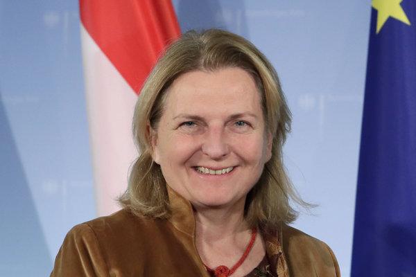 Bývalá rakúska ministerka zahraničia Karin Kneisslová.
