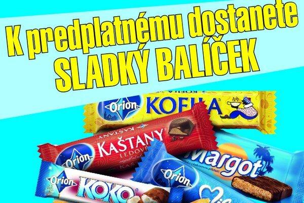 Súčasťou balíčka je aj čokoládová novinka - tyčinka Nugáta.