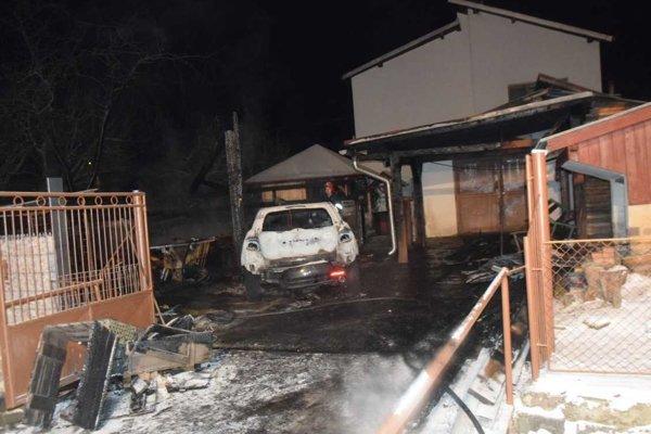 Požiar napáchal obrovské škody.