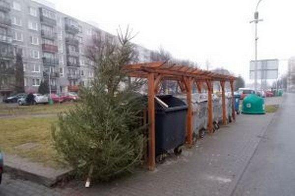 Vyhodené symboly Vianoc spracovávajú na palivo a kompost.