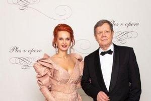 Vlado Černý, riaditeľ divadla Astorka Korzo 90 s manželkou Ivetou Černou