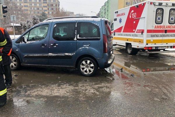 Nehoda na košickej Terase.