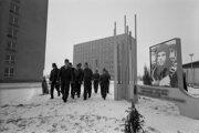 Na archívnej snímke zo 17. februára 1976 je Odborné učilište J.A. Gagarina v Košiciach-Šaci.