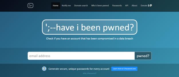 Web Have I Been Pwned umožňuje overiť, či sa vaša e-mailová adresa alebo heslo neobjavili v uniknutej databáze.