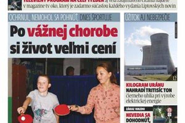 Najnovšie vydanie týždenníka MY Liptovské noviny  je od rána v predaji v novinových stánkoch, obchodoch aj priamo v redakcii na  Ulici osloboditeľov v Liptovskom Mikuláši.