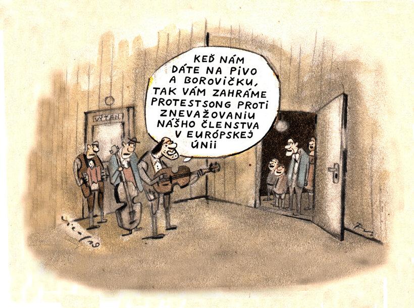 Protestsong za borovičku (Sliacky) 22. január