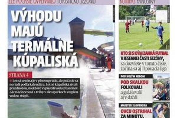 V týždenníku MY Liptovské noviny  prinášame aj rozlosovanie jesennej časti futbalových súťaží.