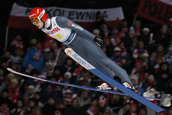 David Siegel počas pretekov Svetového pohára v Zakopanom 19. január 2019.