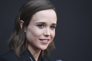 Herečka Ellen Page.