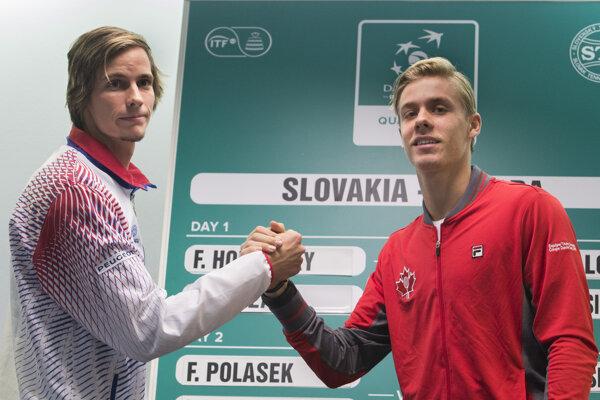 Filip Horanský (vľavo) a Denis Shapovalov.