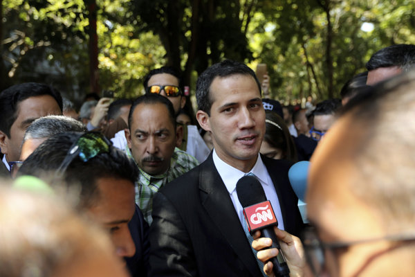 Líder opozície Juan Guaidó.