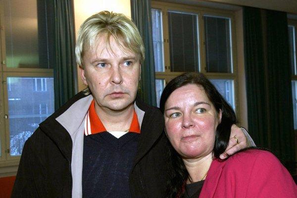 Matti Nykänen s jeho vtedajšou manželkou Merjou Tapolaovou.