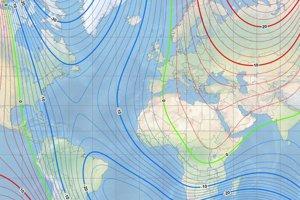 Nová verzia Svetového magnetického modelu.