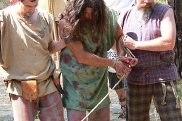 Časť programu, ktorý na Havránku predstavoval obetu človeka, pritiahol veľa návštevníkov.