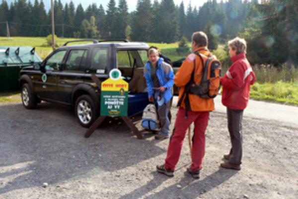 Dobrovoľne pomohol takmer každý návštevník Tatier.