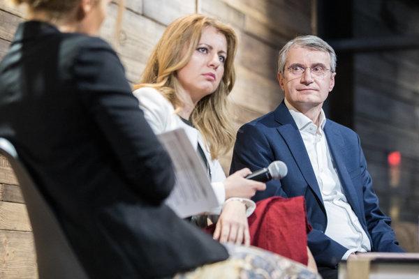 Diskusia denníka SME s prezidentskými kandidátmi Zuzanou Čaputovou a Robertom Mistríkom.