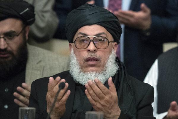 Politický líder Talibanu Šer Mohammad Abbas Stanikzaj.