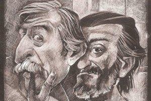 Lasica aSatinský na karikatúre Štefana Baňasa.