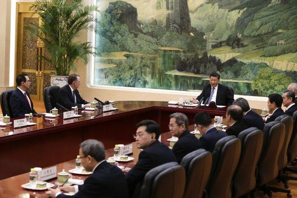 Príhovor prezidenta Si Ťin-Pchinga počas piatkových rokovaní USA s Čínou.