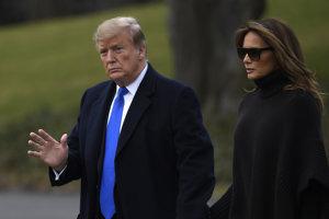 Americký prezident Donald Trump s manželkou Melaniou.