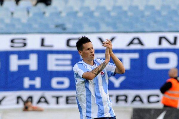 Marek Hamšík v drese ŠK Slovan Bratislava.