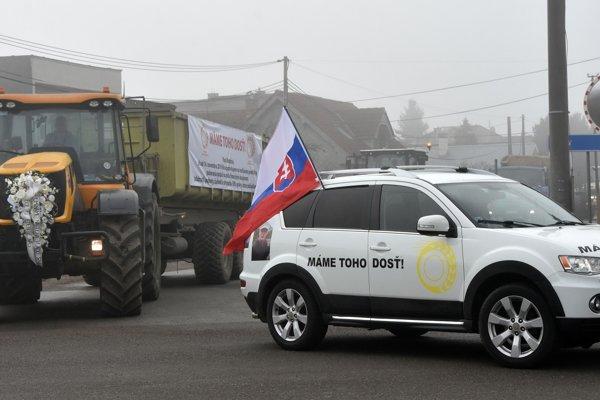 Farmári vyrazili na do Bratislavy.