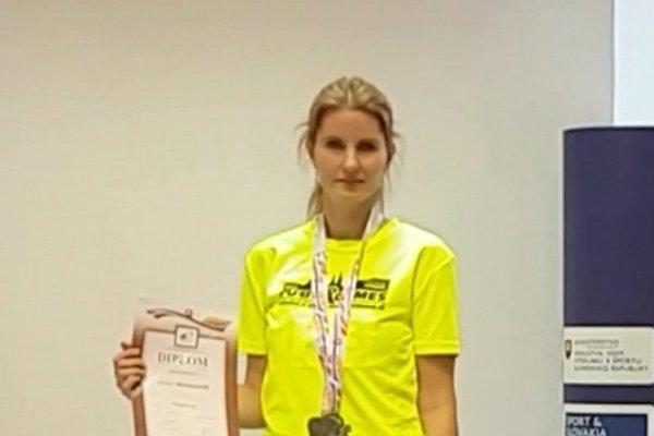 Martina Michalcová odchádzala z Bratislavy s trojitým medailovým úlovkom.