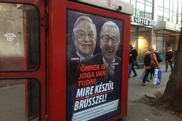 Kampaň maďarskej vlády proti Junckerovi a Sorosovi.