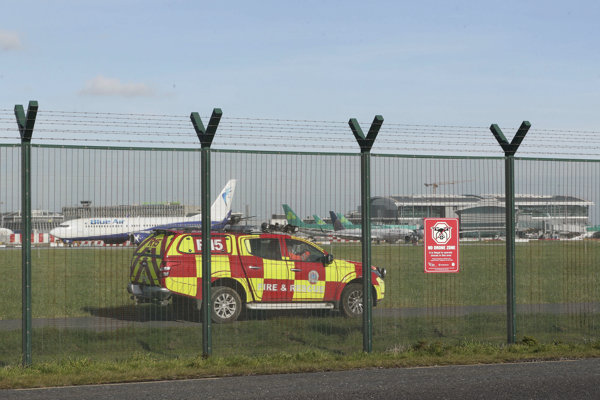 Bezpečnostná služba letiska v Dubline.