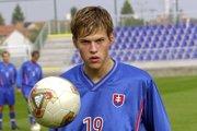 Martin Škrtel v roku 2003, keď ešte reprezentantom do 20 rokov.
