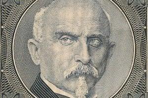 Rašínov portrét sa dostal aj na československé bankovky.
