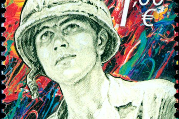 Známka s podobizňou Michaela Stranka.