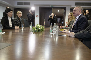 Európska komisárka pre spravodlivosť ochranu spotrebiteľov a otázky pohlaví Věra Jourová na stretnutí s prezidentom Andrejom Kiskom.