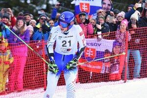 Petra Vlhová v cieli 2. kola.