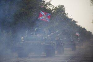 Tanky separatistov na Donbase v roku 2015.