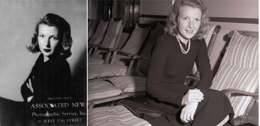 Martha Gellhornová okolo roku 1938, počas návratu z občianskej vojny v Španielsku (1936 - 1939). Bola to prvá vojna, o ktorej písala.