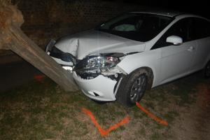 Vodič pod vplyvom alkoholu narazil do stromu.