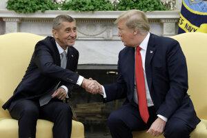 Andrej Babiš na stretnutí s Donaldom Trumpom.