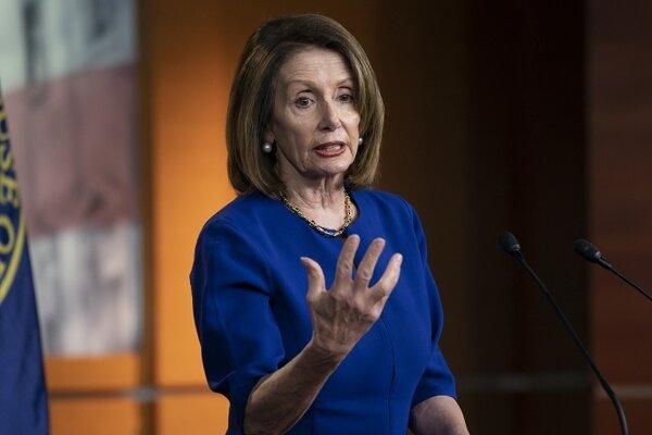 Líderka demokratov v americkom Kongrese Nancy Pelosiov.