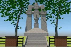 Návrh kópie pamätníka v Badíne.