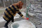 Hlavný prameň v bývalých Sobranských kúpeľoch.