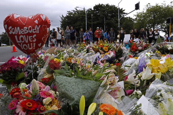 Spomienka na obete v Christchurchi.