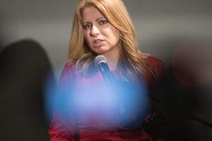 Zuzana Čaputová vystúpila po zverejnení posledných prieskumov verejnej mienky.