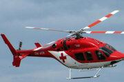 Dievčatko previezol záchranársky vrtuľník do nemocnice.