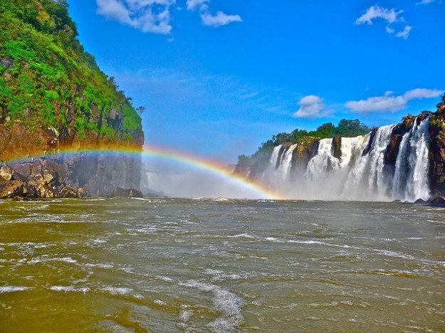 Vodopády Iguazu.
